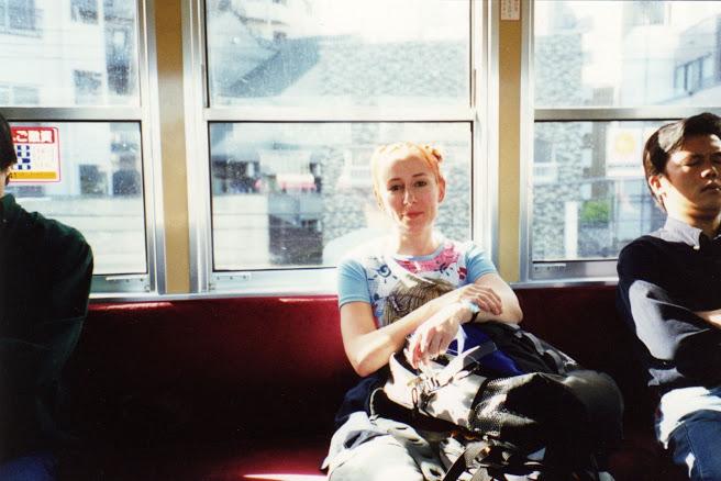 Dans un train au Japon