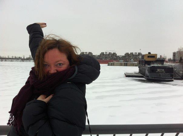 Nikki Bayley lors de son premier séjour à Montréal en janvier 2012