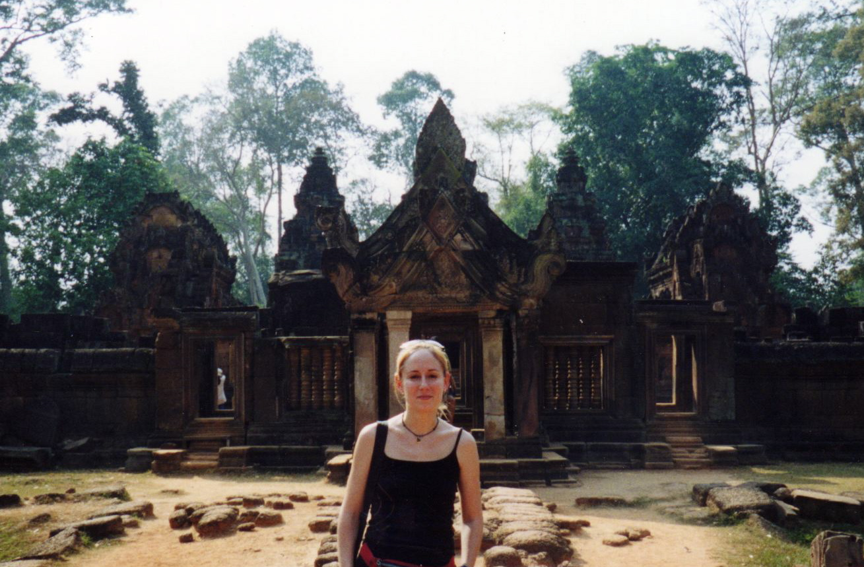 Seule au Cambodge en 2002