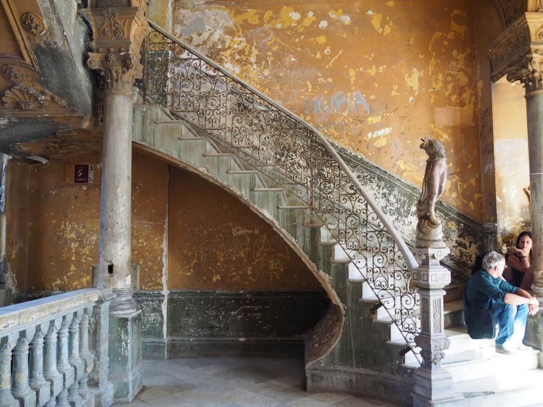 Escalier qui mène à La Guarida