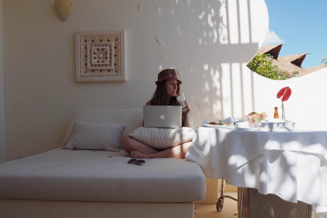 Au Grand Velas Riviera Maya en janvier 2016 (autoportrait)
