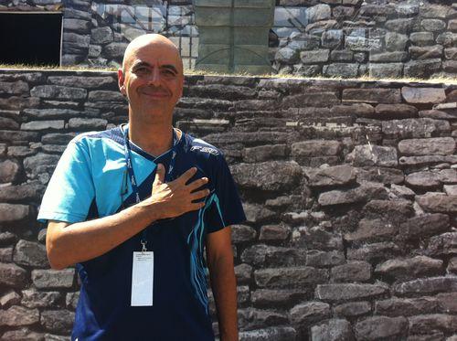 Le chercheur Claudio Obregón au Festival des percussions de Longueuil en juillet 2012