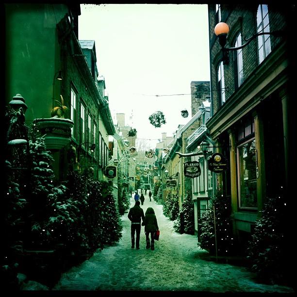 Les charmantes rues du Vieux-Québec...