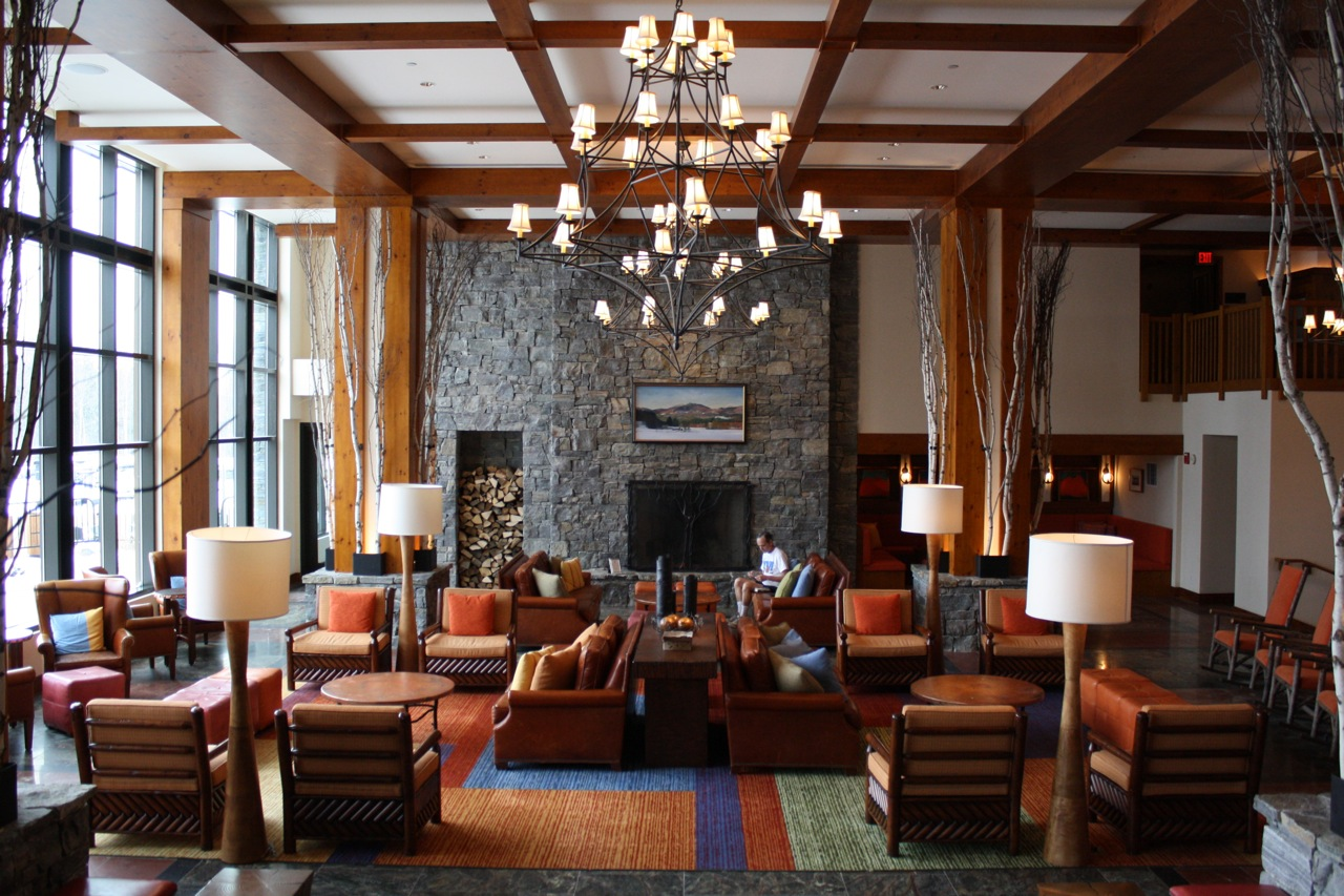 Lobby de Stowe Mountain Lodge