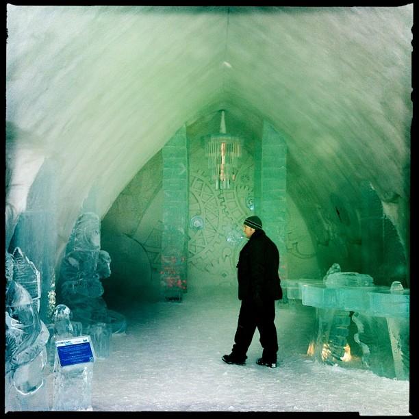 La thématique de cette année à l'Hôtel de glace: «Voyage au centre de l'hiver»