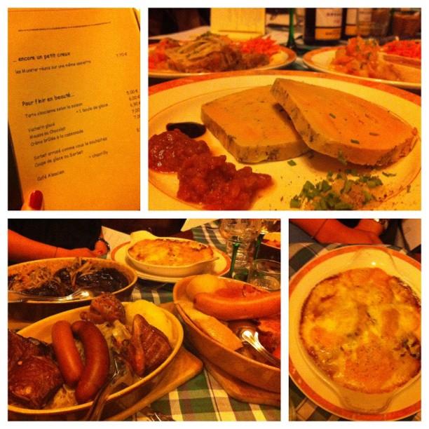 Foie gras, choucroute et gratin au Munster (Coin des Pucelles)