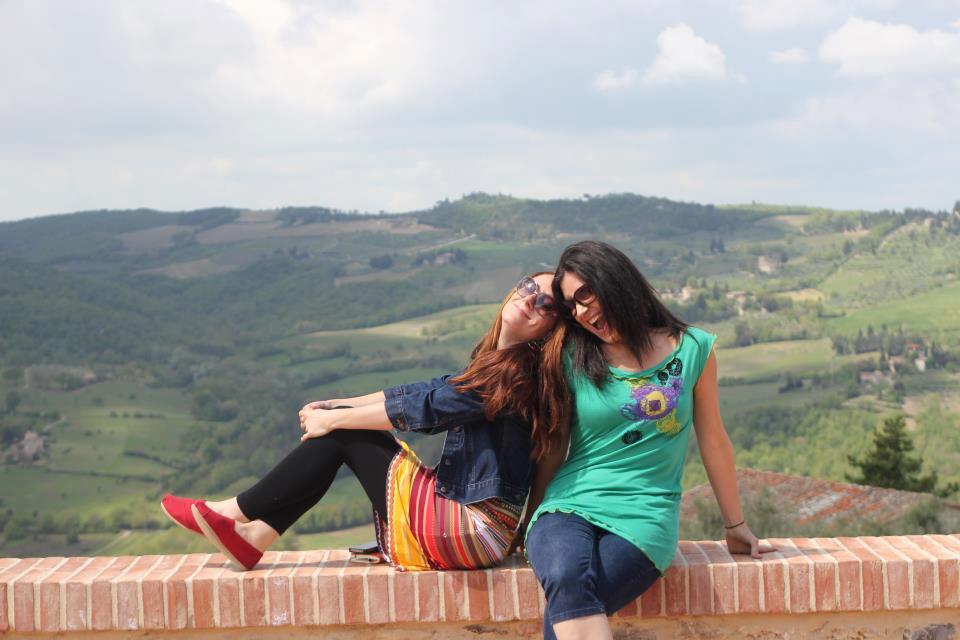 Isa et moi en Italie en 2012