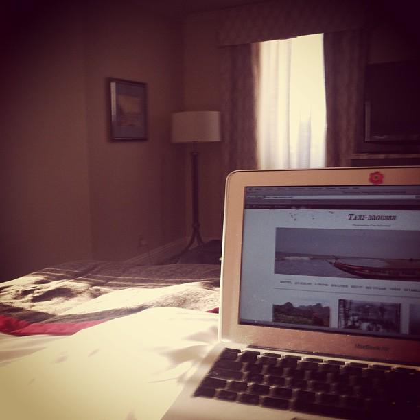 Dans ma chambre d'hôtel, au Manoir Richelieu, dans Charlevoix
