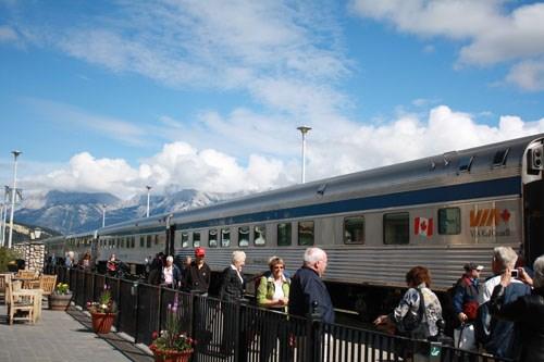 Jasper, où je me suis arrêtée lors de ma traversée du Canada en train en 2010. C'est aussi de là-bas que j'ai pris le Rocky Mountaineer en 2011.