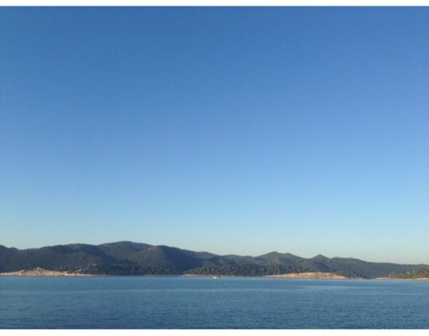 Arrivée à Mljet, en Croatie, à l'aube. C'est ici qu'Ulysse aurait passé sept années avec la nymphe Calypso...