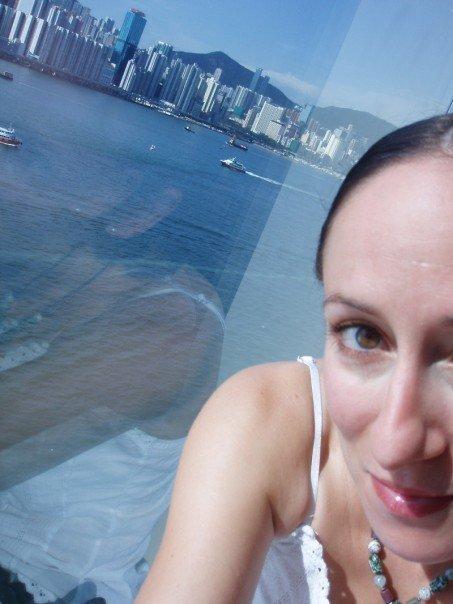 Photo prise à bout de bras depuis mon hôtel, à Hong Kong, en 2005