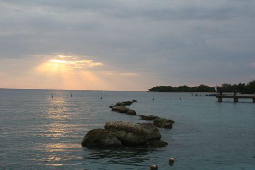 Coucher de soleil à l'hôtel Moulin sur Mer, sur la Côte des Arcadi