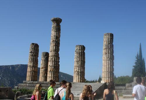 Les restes du temple d'Apollon