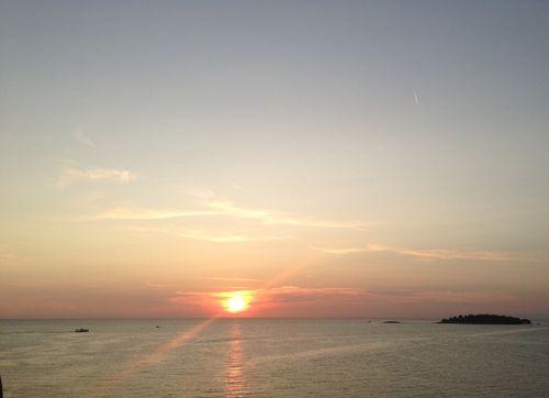 Coucher de soleil à Rovinj, en Croatie