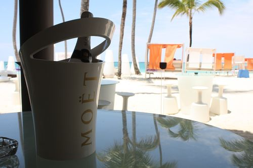 Champagne (en sus) au resto Gabi beach du Paradisus Punta Cana