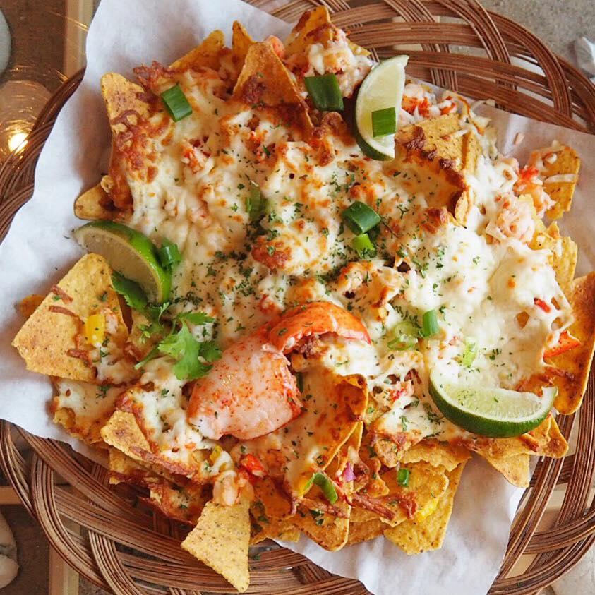 Nachos au homard de La Salicorne