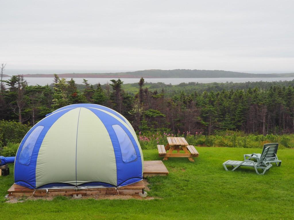 L'une des tentes bulles de La Salicorne