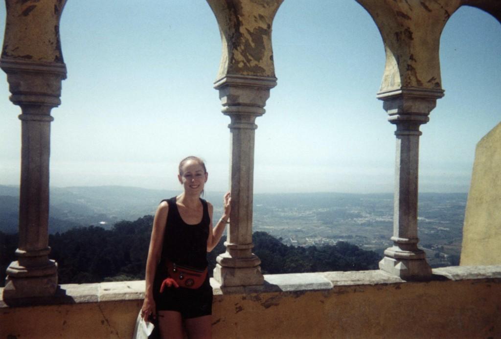 Sintra, Portugal, lors de mon premier voyage en solo en 1998!