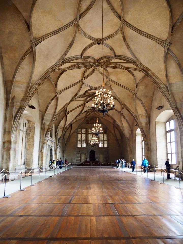 Une salle du château de Prague